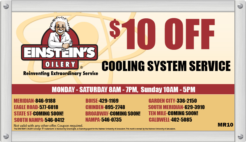 Einstein's Oilery Oil Change Coupons for Boise, Meridian