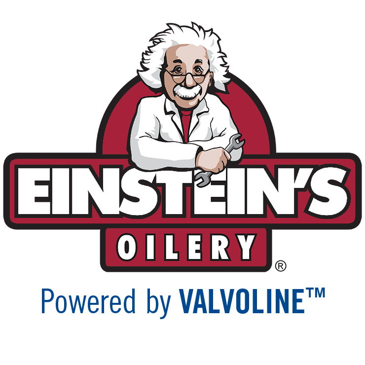 Einstein's Oilery. Powered by Valvoline